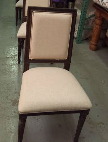 Linen Dining Room Chair Seat Stain - After