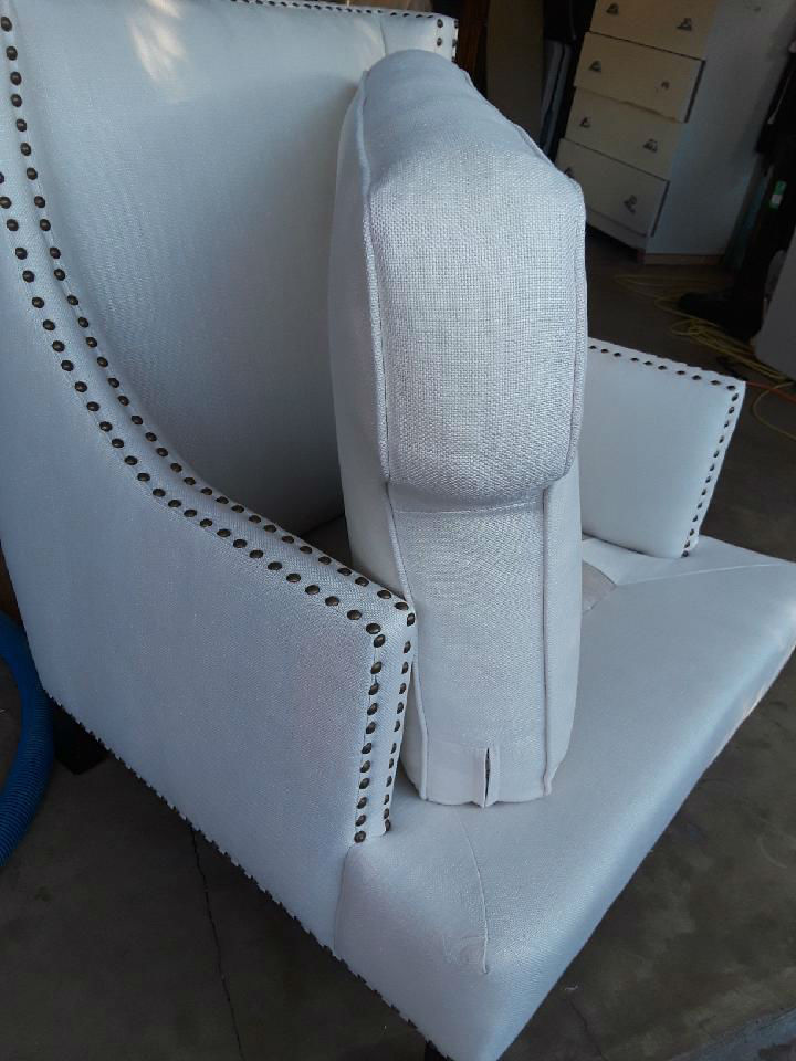 Cleaning Red Wine on White Linen Chair